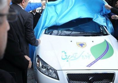 Iranian carmaker unveils first all-electric car
