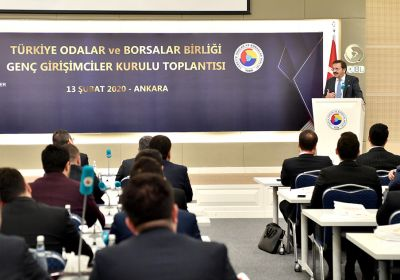 Hisarcıklıoğlu urged young entrepreneurs to..