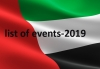 List of events in UAE-2019